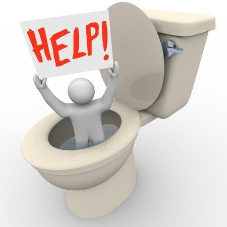 toilettes bouchés