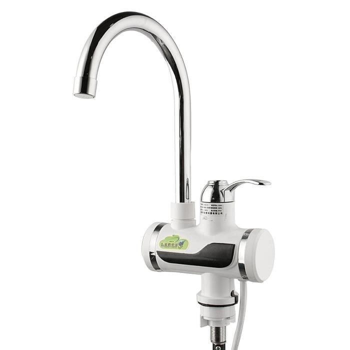 robinet électrique avec chauffe-eau intégré